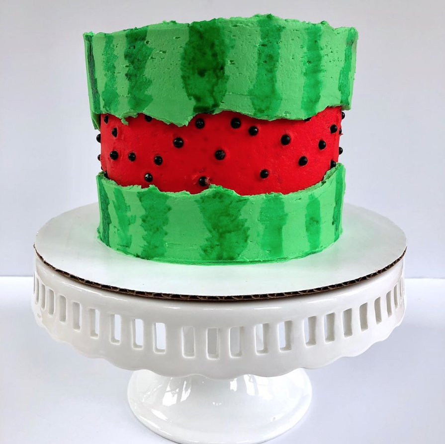 Watermelon Faultline Cake | www.findyourcakeinspiration.com
