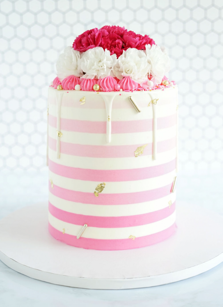 Pink Floral Ombre Beauty | www.findyourcakeinspiration.com