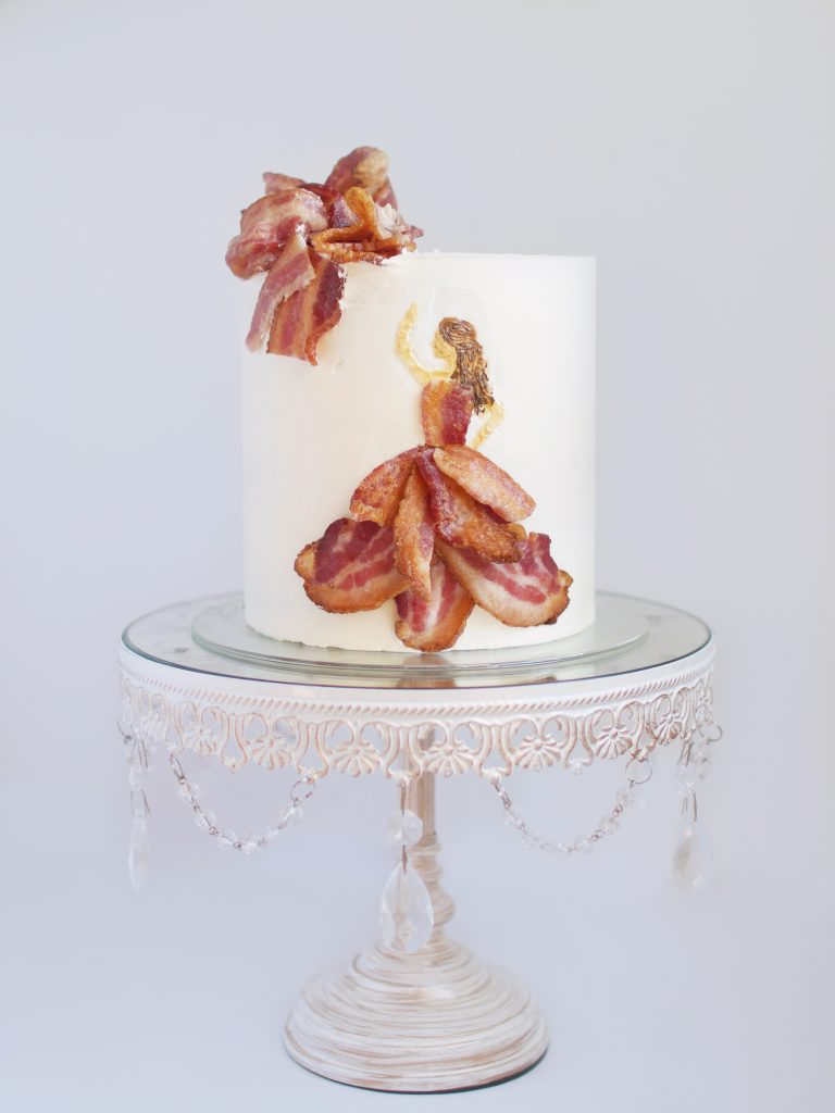 Buttercream Bacon Dress Cake