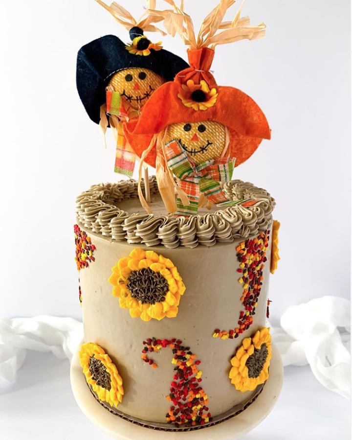 Cute Scarecrow Cake
