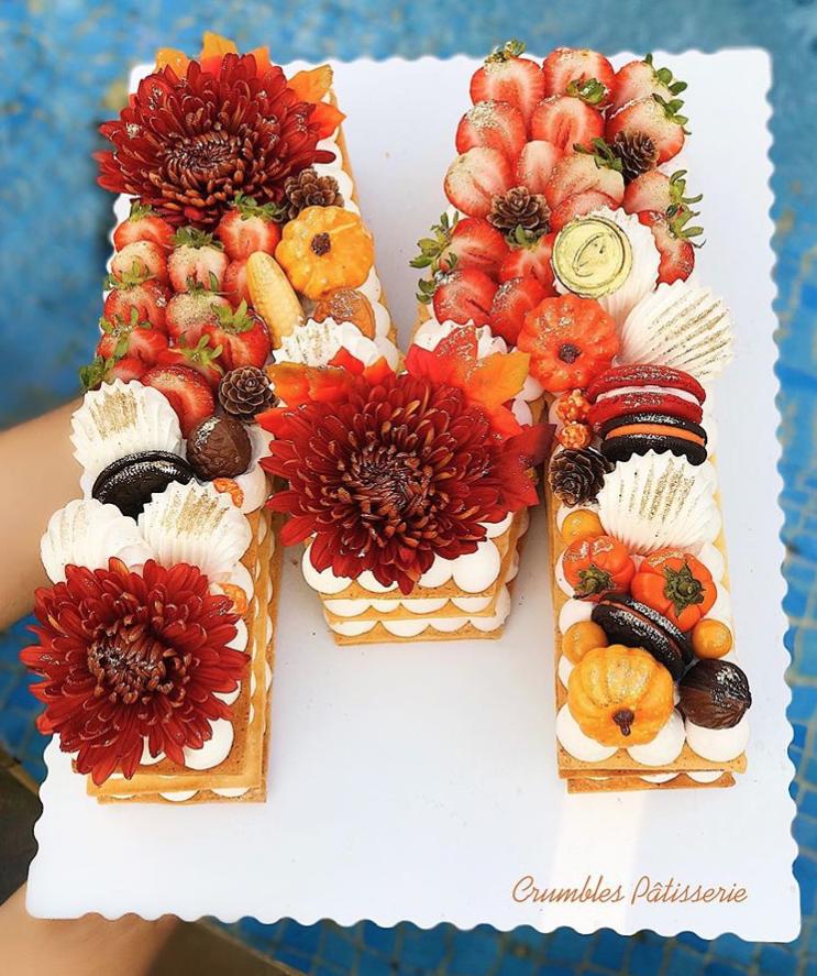 Autumn Letter Cake