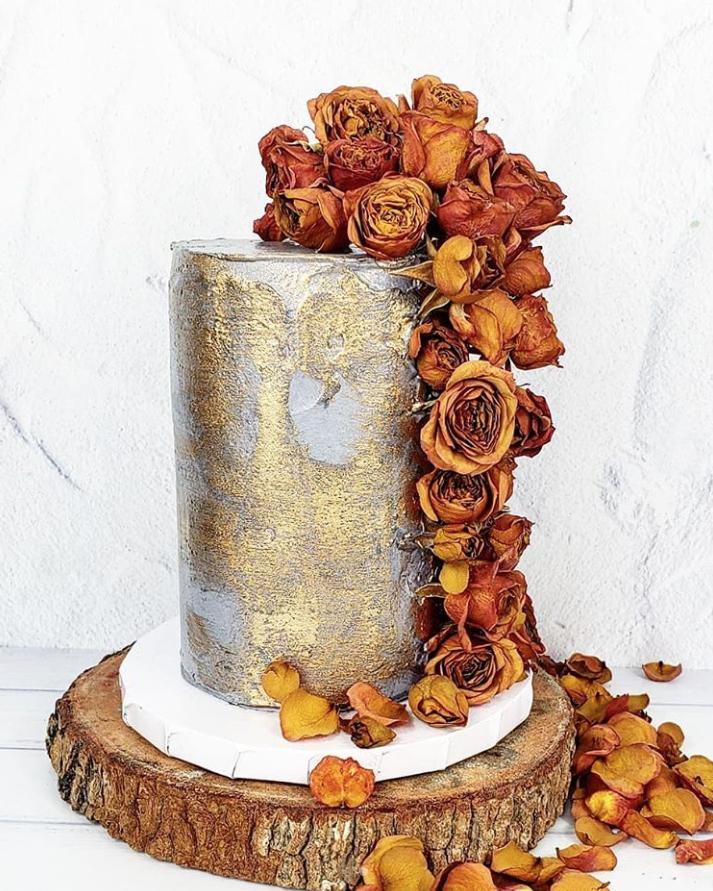 Autumn Floral Cake