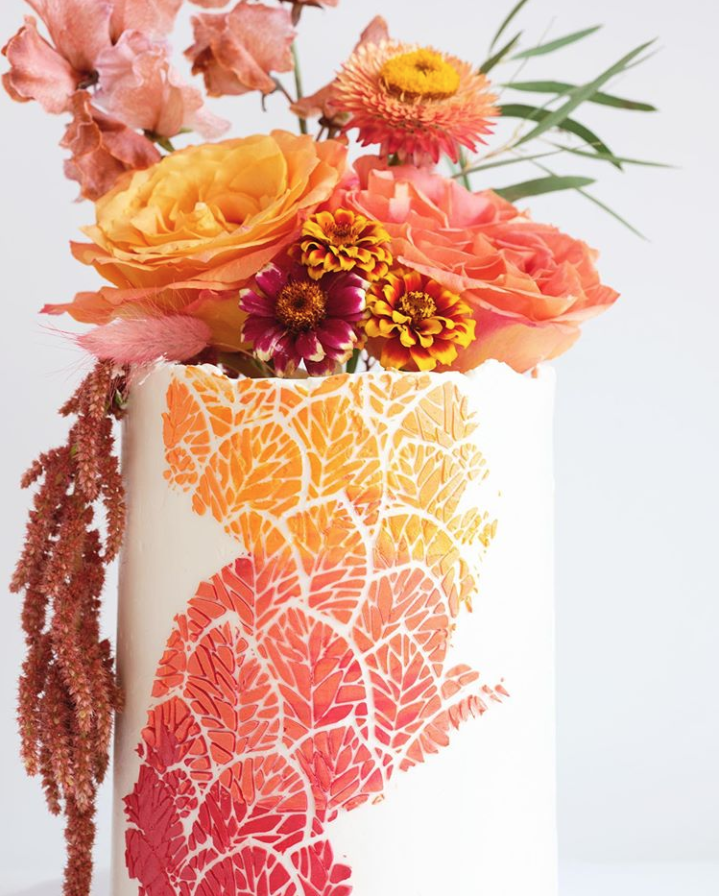 Close Up View of Autumn Cake