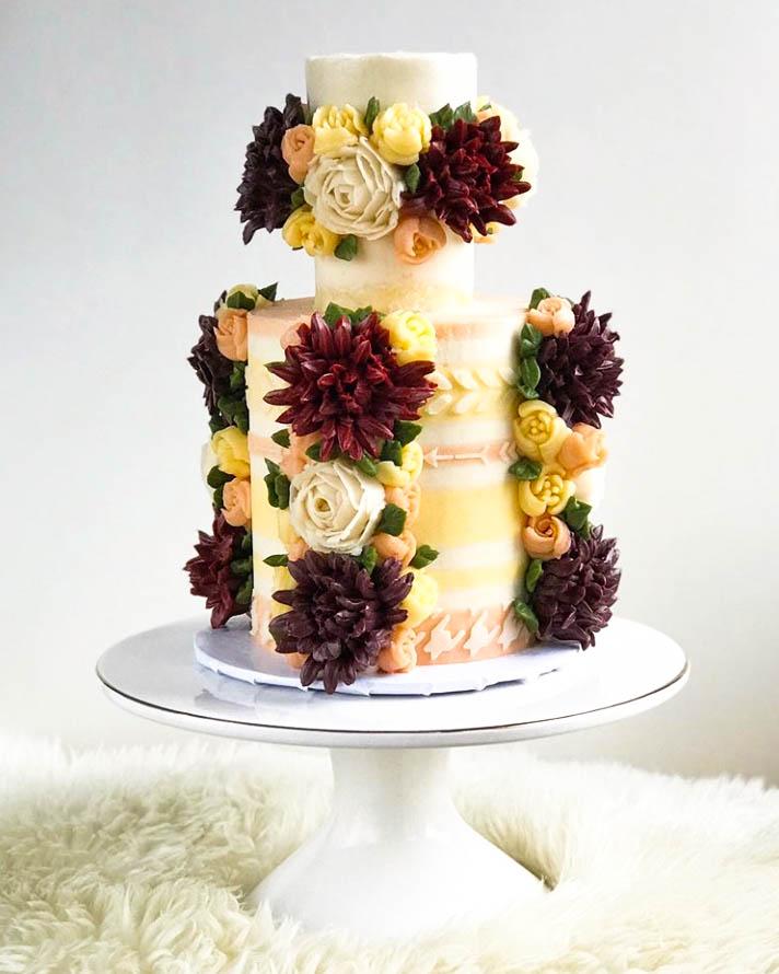 Fall Mini Wedding Cake