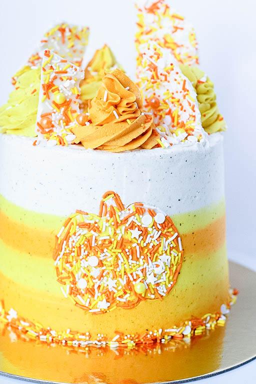 Sprinkle Pumpkin Spice Cake