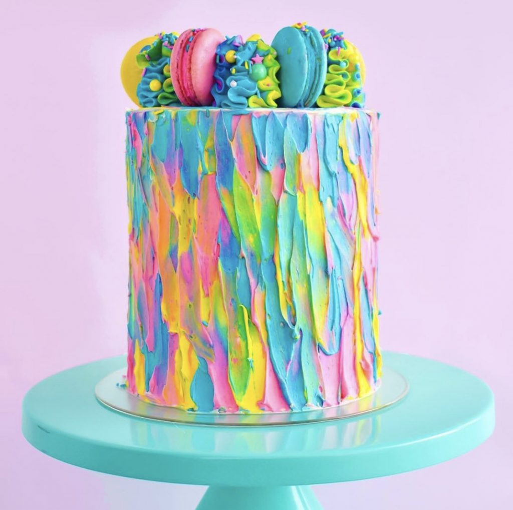 Color Textured Cake
