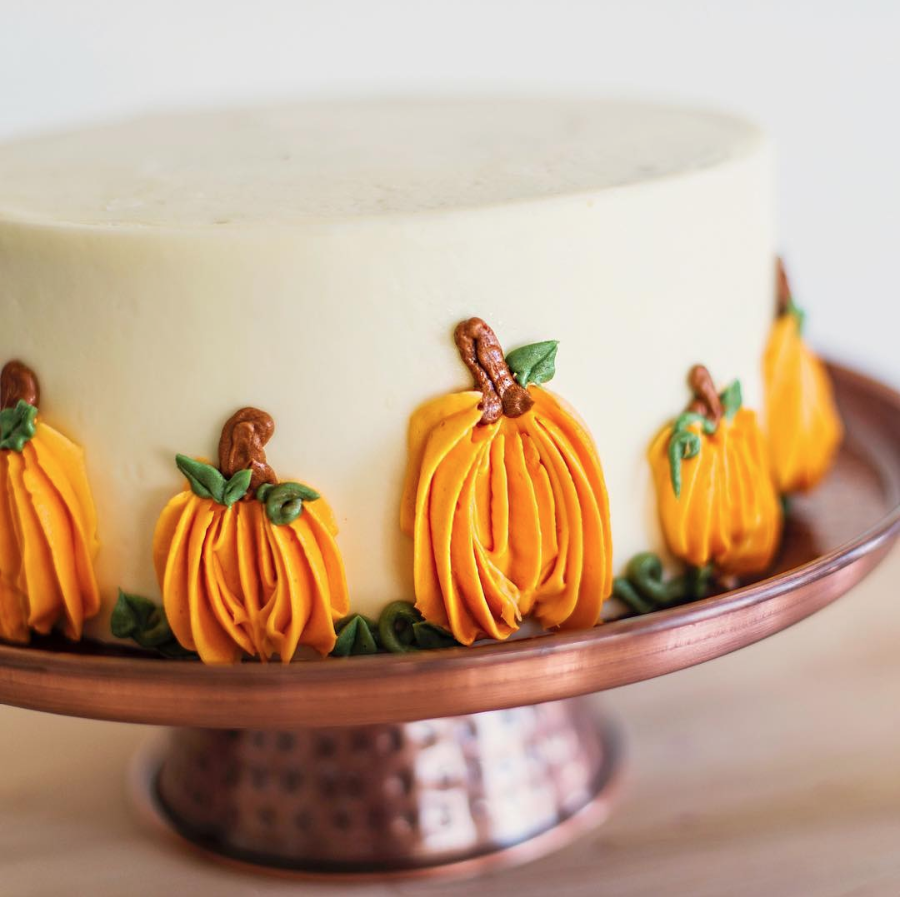 Cute 1M Buttercream Pumpkins