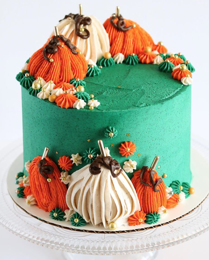 Pumpkin Emerald Cake
