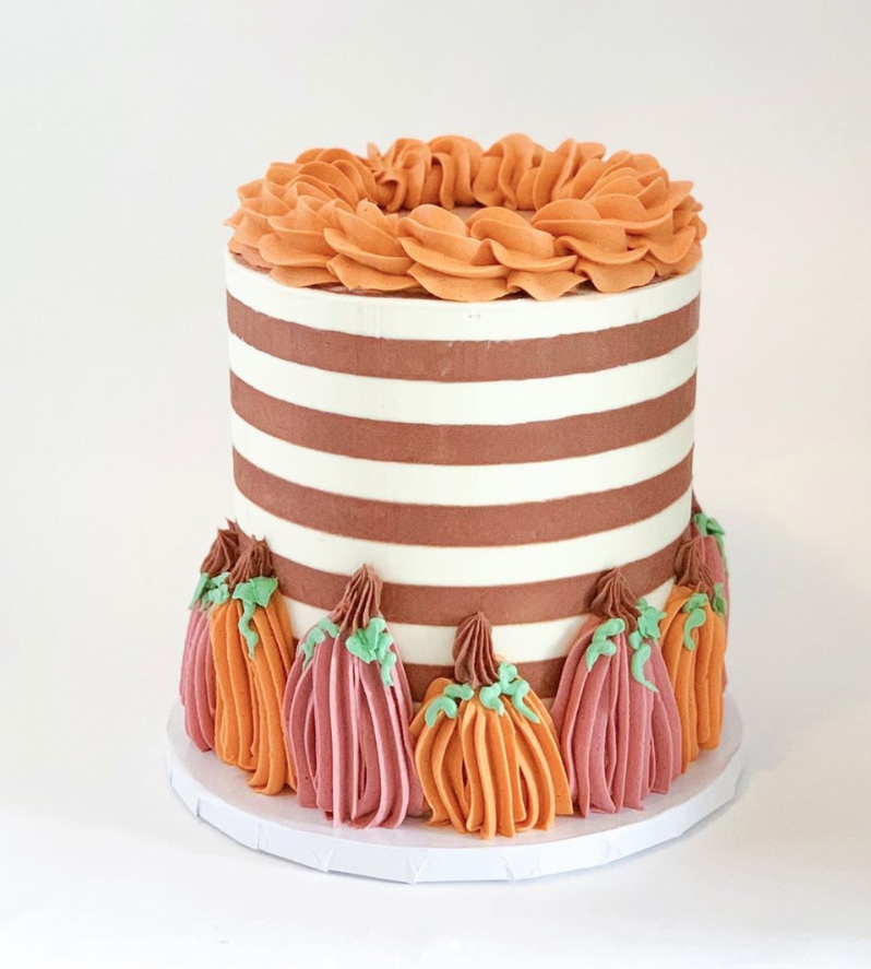 Striped Pumpkin Cake