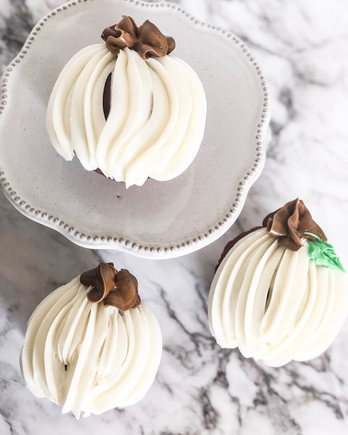 White Pumpkin Cupcakes