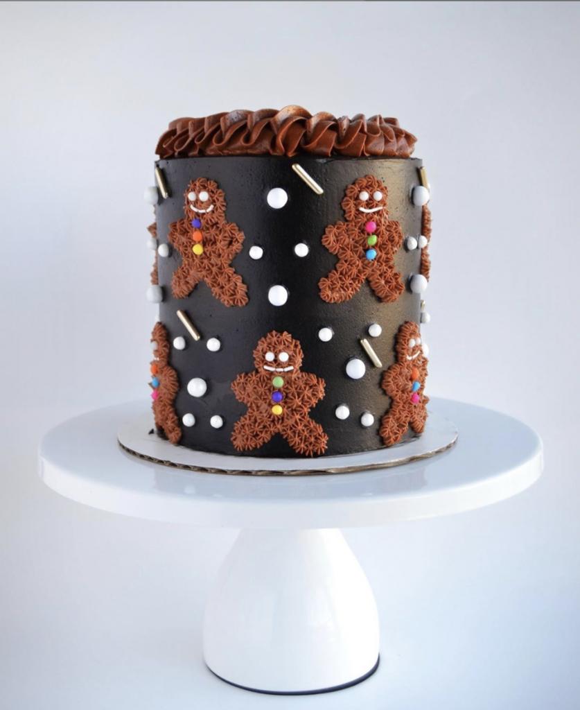 Adorable Gingerbread Man Cake