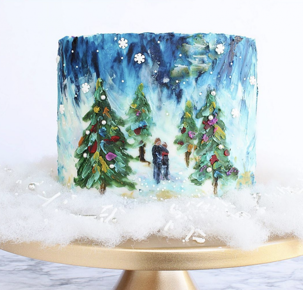 Baby It's Cold Outside Christmas Cake