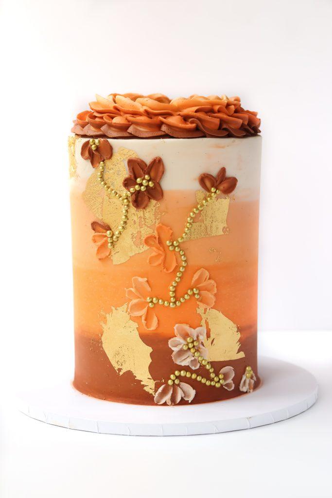 Autumn Ombre Cake