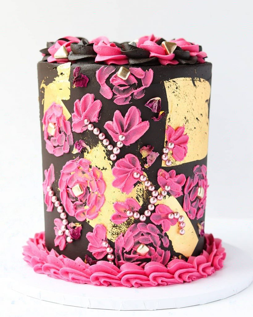 Gorgeous 40th Birthday Cake