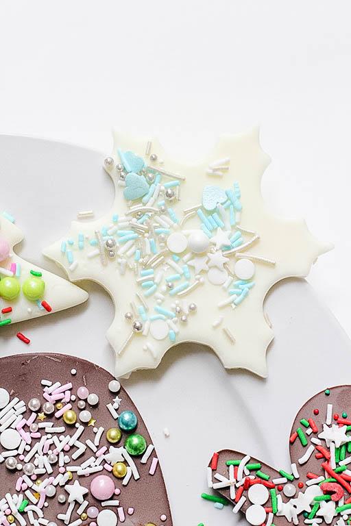 White Chocolate Snowflake Bark