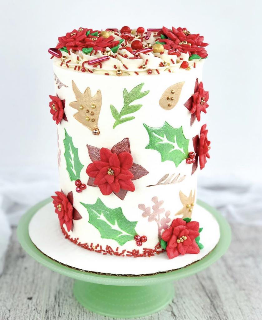 Winter Botanical Cake