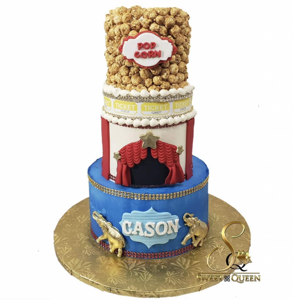 Carnival Baby Shower Cake