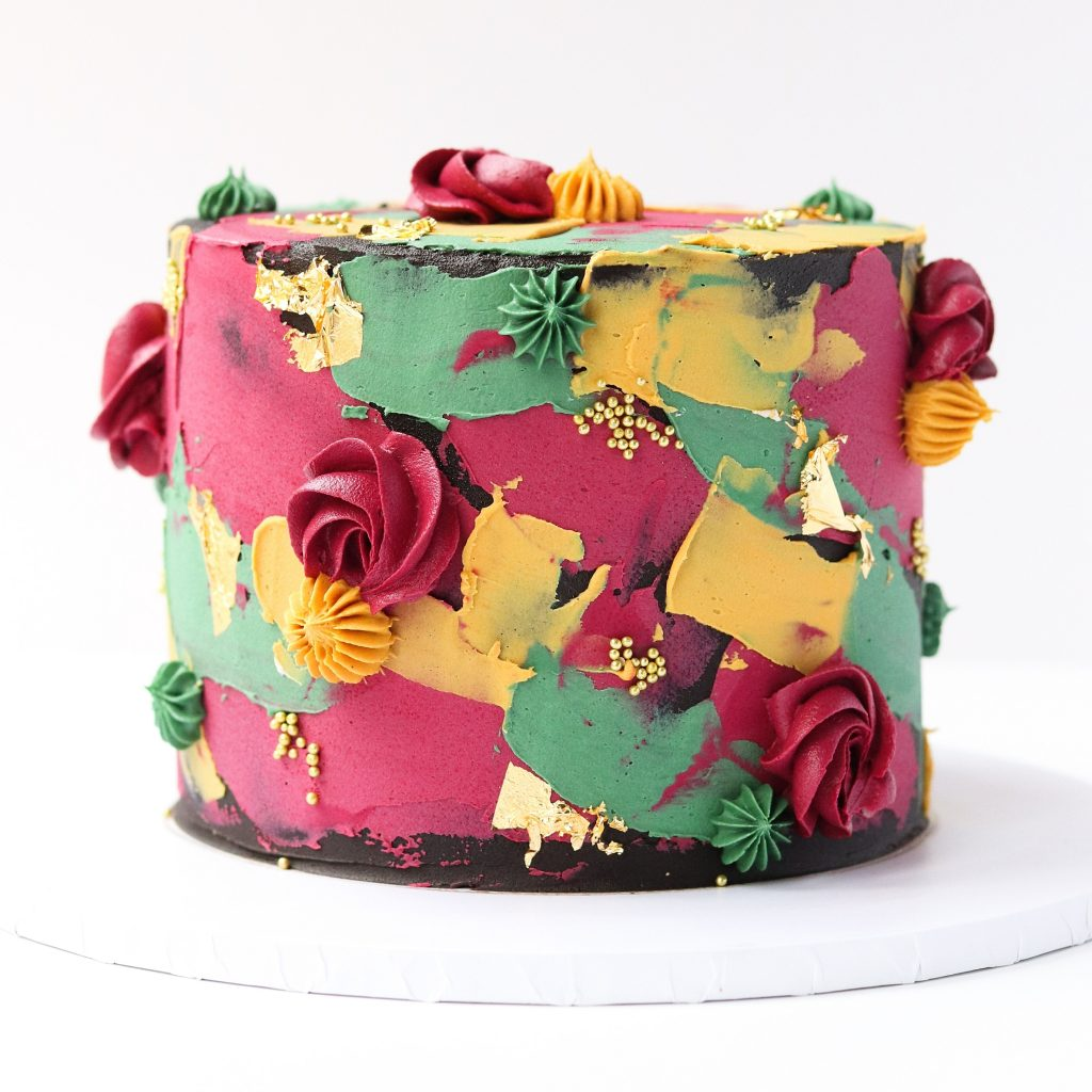 Colorful Textured Cake