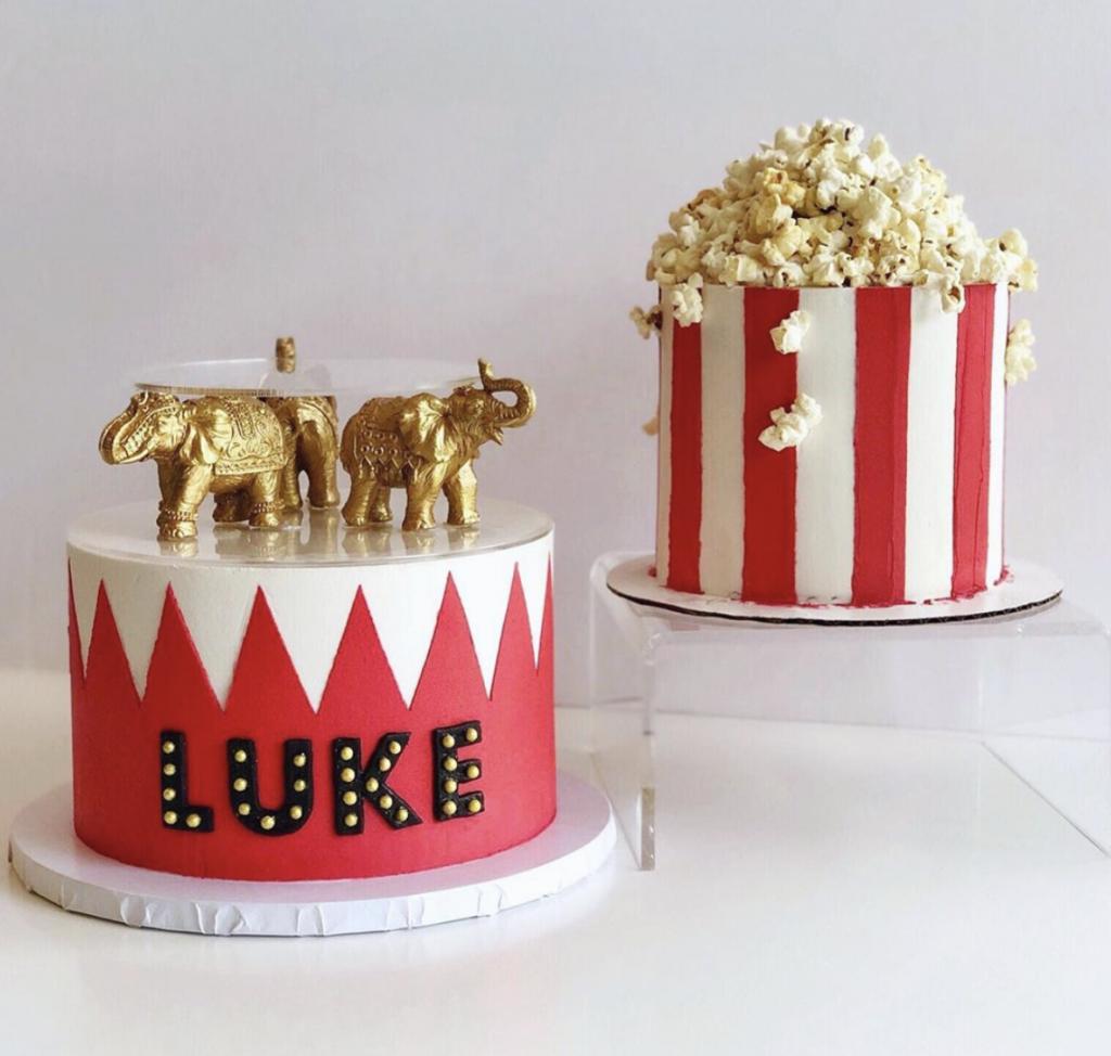 Gold Elephant Carnival Cake