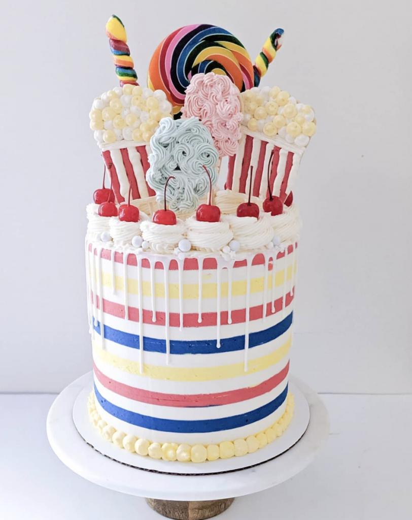 Striped Carnival Cake