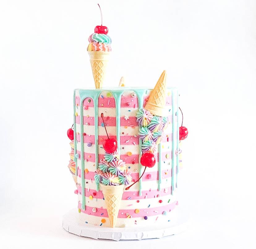 Summer Ice Cream Cake