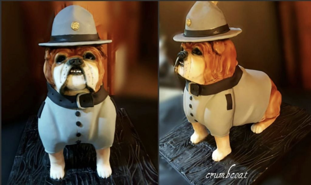 Sculpted Bulldog Trooper Cake