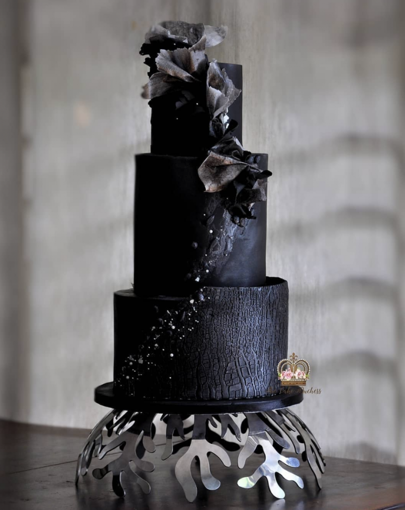 Black Glam Wedding Cake