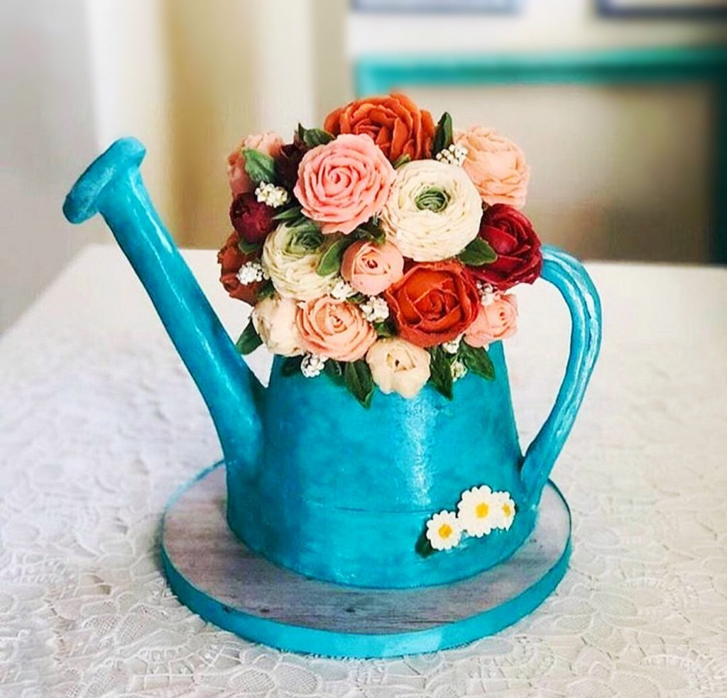 Buttercream Watering Can Cake