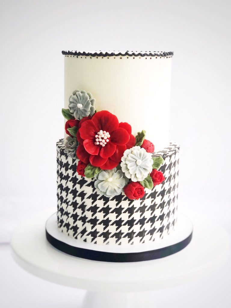 Gorgeous Houndstooth Cake