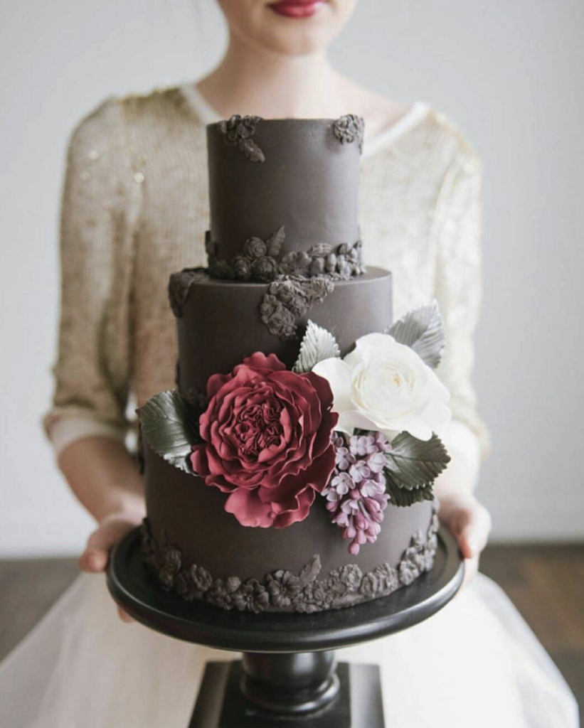 Sugar Florals Wedding Cake