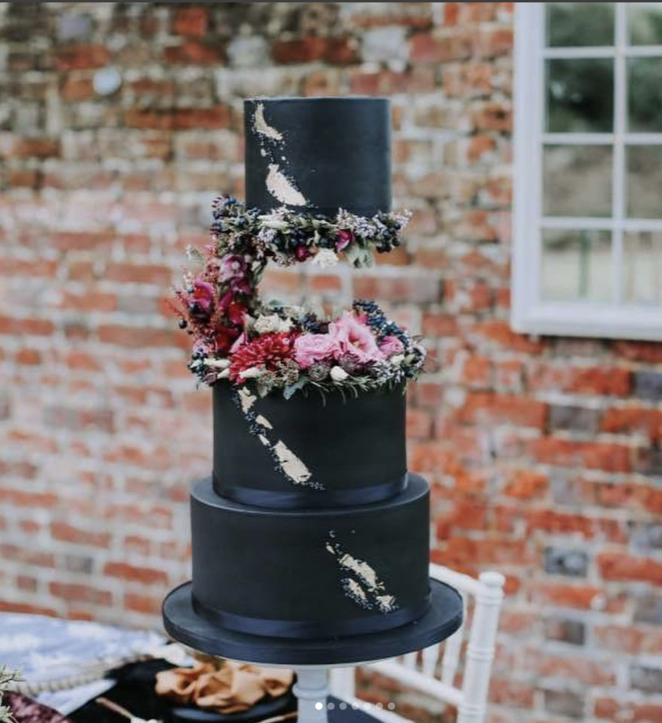 Three Tiered Floating Wedding Cake