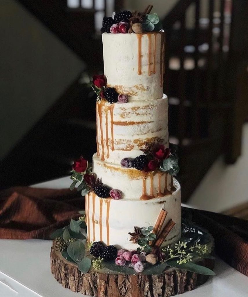 Whimsical Semi Naked Cake