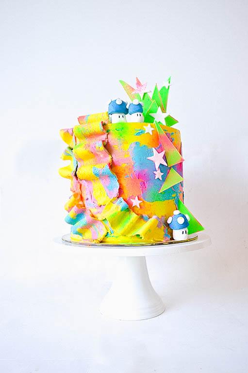 80's Inspired Mario Cake