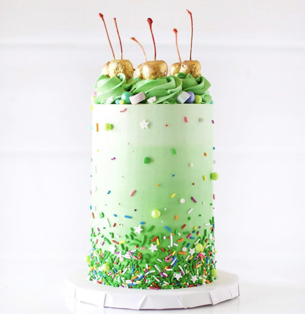 Ombre St. Patrick's Day Cake