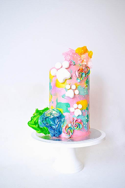 Rainbow Paw Patrol Cake