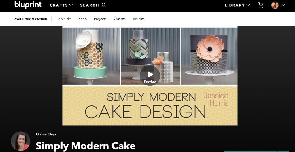 Simple Modern Cake Design