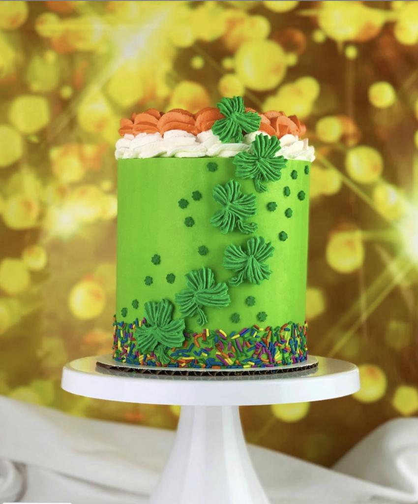 St. Patrick's Shamrock Cake