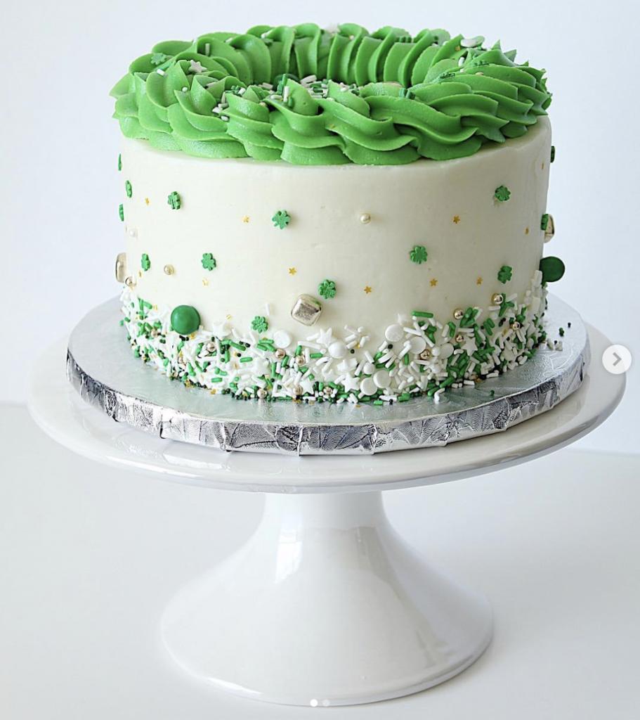St. Patrick Sprinkle Cake