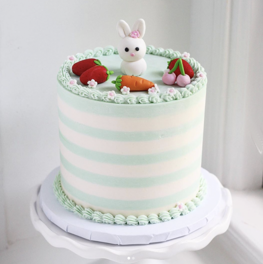 Striped Easter Cake