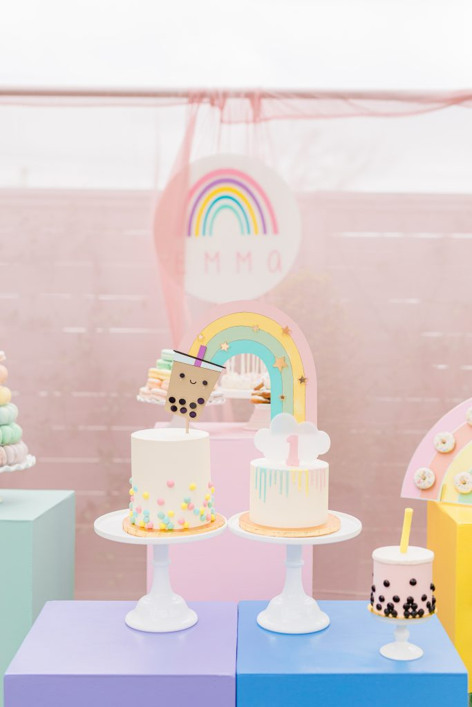 Rainbow & Bubble Tea Cakes