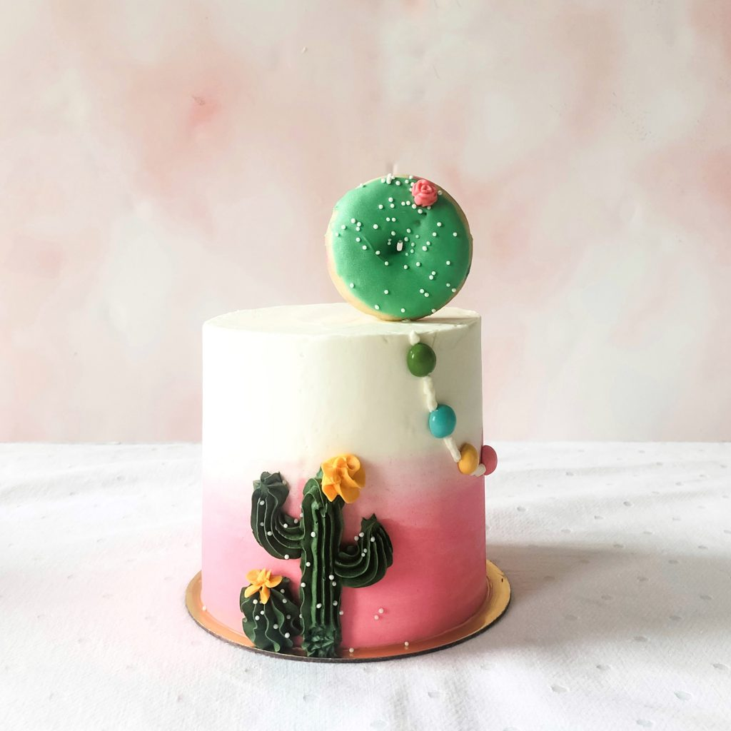 Cute Buttercream Cactus Cake