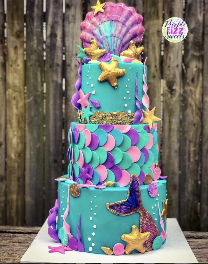 Impressive Mermaid Tiered Cake