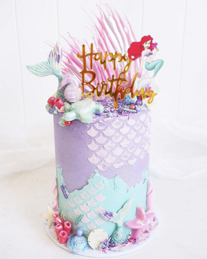 Little Mermaid Inspired Cake