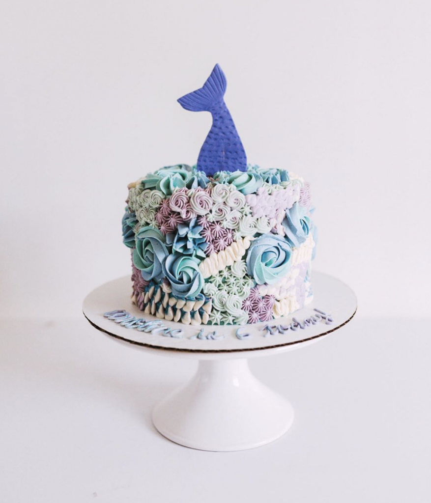 Mermaid Textured Buttercream Cake