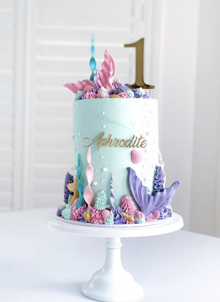 Pretty First Birthday Mermaid Cake