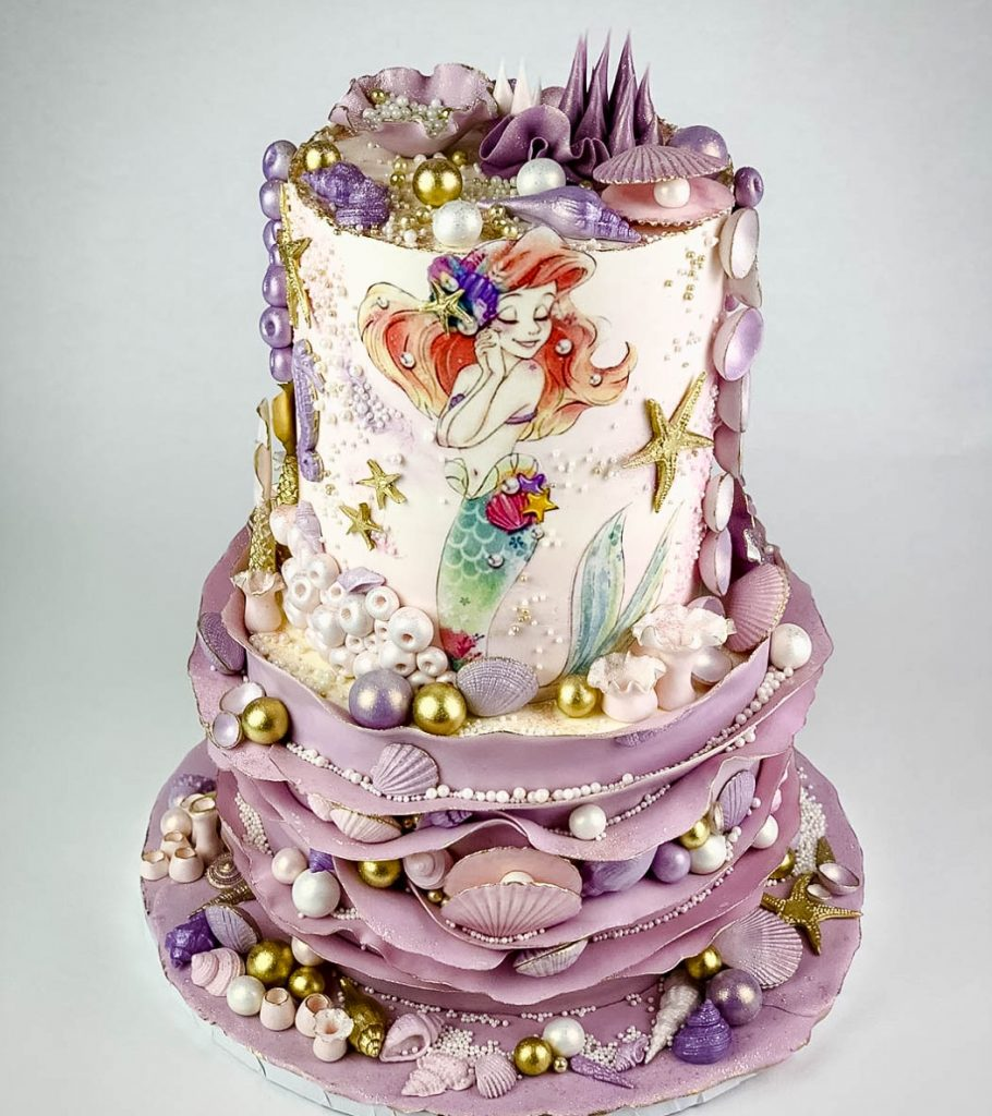 Stunning Ariel Birthday Cake