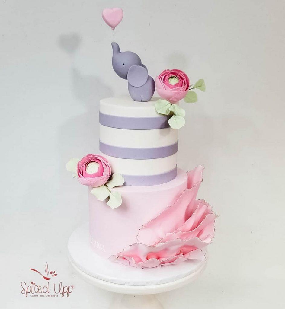 Cutest Elephant Baby Shower Cake