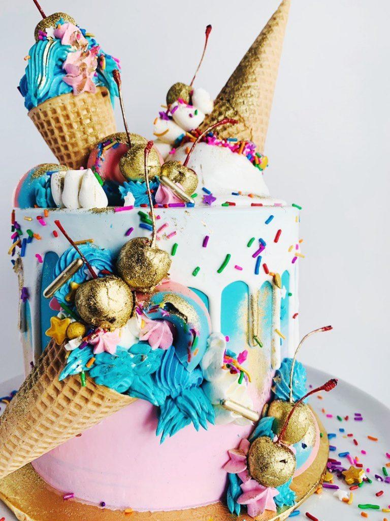 Glitter Ice Cream Cake