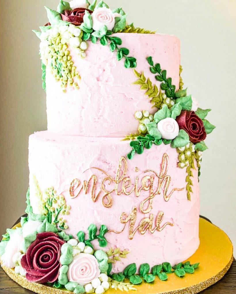 Gorgeous Buttercream Baby Shower Cake