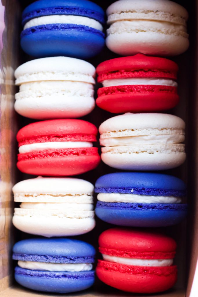 4th of July Patriotic Macarons